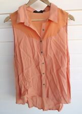 Mink Pink Women's Sleeveless Orange Shirt / Singlet Top - Size M