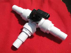 3-Wege Ventil Steuerventil  Solarkollektor Bypass Set Poolheizung + 3x Anschluss