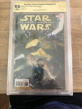 Star Wars The Force Awakens Adaption Comic Issue 6 Cbcs 9.8 Signed Peter Mayhew