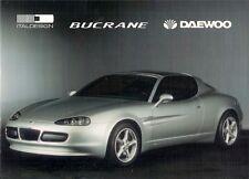 Daewoo Ital Design Bucrane Concept Car 1995 Bilingual Foldout Sales Brochure