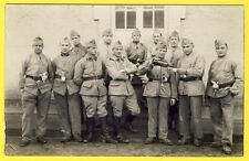 cpa CARTE PHOTO 102e Régiment Caserne Service Militaires Soldats Poilus Uniforme