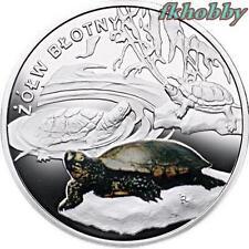 Poland 2009 silver Symbols of Nature Turtle Tortuga Schildkröte Tortoise Animals