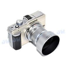 JJC Silver Lens hood Shade for Olympus M.ZUIKO DIGITAL 45mm 1:1.8 Lens as LH-40B