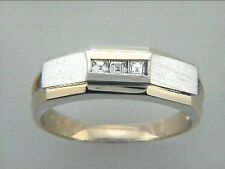 Gent's Baguette Cut Diamond Ring 14k Two Tone Gold with 0.20ct Diamonds
