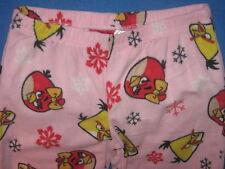 ANGRY BIRDS Video Game MOVIE iphone New GIRL'S Fleece PAJAMA LOUNGE Sleep PANTS
