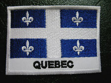 QUEBEC LA BELLE PROVINCE QUEBECER QUEBECKER QUEBECOIS CANADA FLAG Sew on Patch