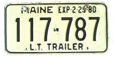 Maine 1980 Old License Plate Garage Trailer Man Cave Rustic Travel Haul Vintage