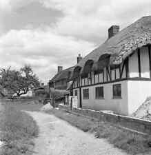 B/W 6x6 Negative Oakley Hampshire Village Scene 1952 + Copyright Z63