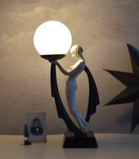 Lampe Écran de Boule Art Déco Lampe de Table Danseuse Chevet Table de Nuit Neuf