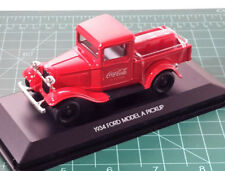 1:43 Coca-Cola Motor City Classics 1934 Ford Model A Pickup RED Item #443743
