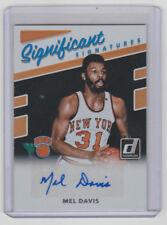 MEL DAVIS Knicks SIGNED 2017-18 Donruss SIGNIFICANT SIGNATURES Autograph AUTO