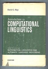 Introduction to Computational Linguistics - David G. Hays - Elsevier, Hardcover