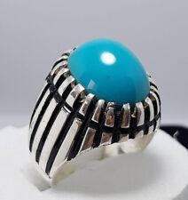 Dark Blue Feroza Ring Turquoise Rings Nishapuri Feroza New Elegant Ring Design
