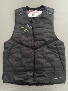 "Nike Aeroloft Down Running Vest ""Black"" CU7797-010 Men's Size Medium"