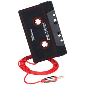Audio AUX Car Cassette to MP3 CD MD Tape Adapter Converter For iPod Phones C
