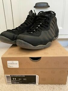Nike Little Foamposite One Black Hyper Royal Grade School ...