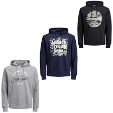 Jack & Jones Originals Hoodie Camouflage Logo L/Sweater Mens JORCamoClub