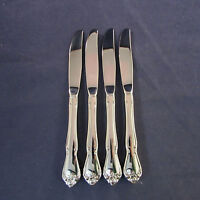 SET OF FOUR - Oneida Stainless ARBOR ROSE / TRUE ROSE Dinner Knives * USA