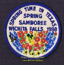 "LMH Patch  1998 GOOD SAM CLUB SAMBOREE  Wichita Falls TX  SPRING TIME Flowers 3"""
