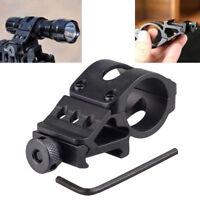 5mm Offset Rifle Scope Flashlight Torch Laser Weaver For Picatinny Rail Mount