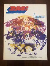 1970 LOS ANGELES RAMS FOOTBALL PROGRAM VS NEW YORK JETS
