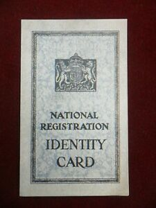 Large  Robert Opie collection postcard WW2 Identity Card