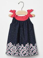 GAP Baby Girl Size 0-3 Months Americana Red / White / Blue Floral Daisy Dress