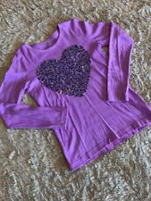 Crewcuts Collectible L/S Girls Lavender Shirt With Sequin Heart.  Size 10