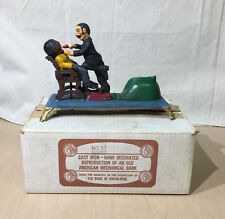 "BOOK OF KNOWLEDGE MECHANICAL BANK - ""THE DENTIST"" / ORIGINAL BOX"