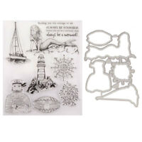 Klar Stempel Nautische Fischer Siegel Metall Cutter DIY Scrapbooking Album Decor