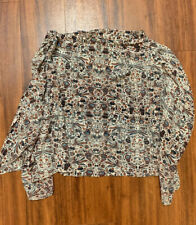 Etoile Isabel Marant Silk Print Strapless Top with Side Curtain (Size 1)