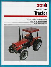 CASE MODEL 485 TRACTOR 4 PAGE BROCHURE