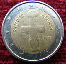 Cyprus 2008-2 Euro circulation coin,rare
