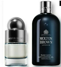Molton Brown Russian Leather Bath & Shower 300ml & EDT 50ml Set