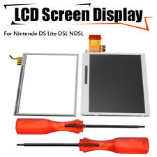 Bottom LCD Display+Touch  Screen Replacement+Tools For Nintendo DS Lite DSL NDSL
