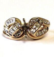 14K yellow gold semi mount .84ct VS G diamond engagement ring wedding band 5.1g
