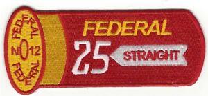 25 STRAIGHT SKEET TRAP SHOTGUN SHOOTING PATCH