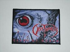 OBITUARY CAUSE OF DEATH WOVEN PATCH