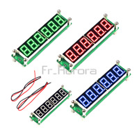 6-digits  LED Display Blue RF Signal Frequency Counter DC 8V~15V 0.1MHz~65MHz