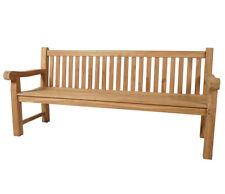 KMH® 4er Teak Gartenbank Bank Sitzbank Holzbank Teakbank Parkbank 4-sitzer Holz