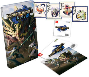 MONSTER HUNTER RISE Steelbook + Collectible Cards RARE LIMITED Steelcase no game