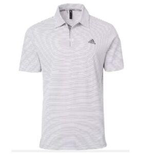 New Men's Adidas Adi 2 Color Stripe Polo White - Choose Size