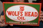 Wolf%27s+Head+Motor+Oil+Gas+Station+Porcelain+Metal+Sign