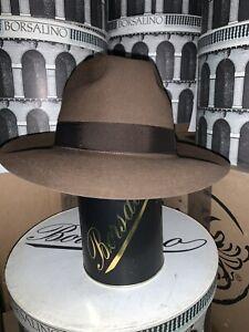 Borsalino Beaver Men's Fedora Hat Made In Italy Size 62