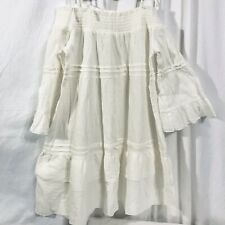 new with tag, Romeo & Juliet Couture Girls Dress Size M white gauzy off shoulder