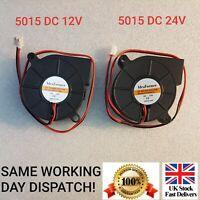 5015 DC 12V, 24V Silent Radial Turbo Blower Fan Cooling for 3D Printer 2 PIN -UK