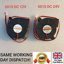 More details for 5015 dc 12v, 24v silent radial turbo blower fan cooling for printer 2 pin