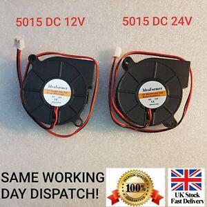 5015 DC 12V, 24V Silent Radial Turbo Blower Fan Cooling for Printer 2 PIN
