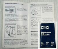 Ford USA Modelle 1979 Bedienungsanleitung Betriebsanleitung Mercury Lincoln