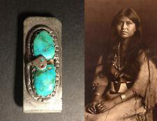 Vintage ZUNI Effie Calavaza Turquoise Money Clip Sterling Silver 925 (19.6 g)